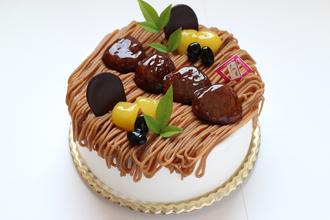 栗のシフォンケーキ